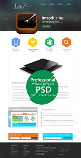 professional website template design psd css author