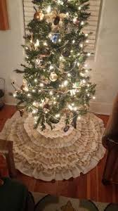rustic shabby chic christmas tree skirt tutorial diy dear olympia