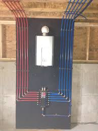 install of a pex manifold with a rinnai tankless water heater