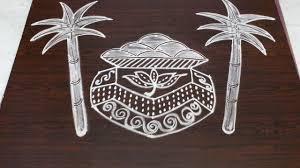 sankranthi bhogi pot muggulu designs with 7x4 dots pongal kolam