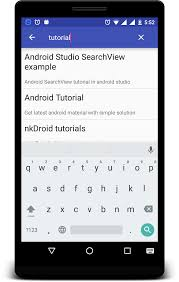 android toolbar tutorial android searchview in listview exle tutorial nk droid