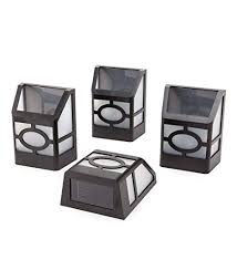 solar deck accent lights amazon com plow hearth 65278 mission style solar deck accent