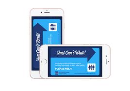 free just can t wait toilet card bladder bowel community