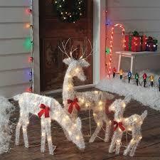 events lighted deer set of 3