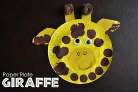 paper plate giraffe i heart crafty things