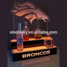 led lighted bar shelves 2 step led lighted bar bottle display 3 tier acrylic shelf within