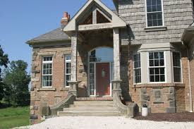 the gallery for brick ranch style homes and houses loversiq yoder masonry inc page 5 entrance way with re purposed stone steps hand carved one piece home decor