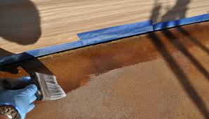 How To Stain Concrete Patio Yourself How To Acid Stain Concrete