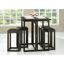 Kitchen Bar Table Sets by Leeds Brown Wood Collapsible Pub Table Set 6714318 Hsn