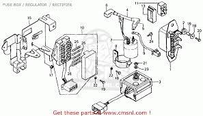 honda cb750f 750 super sport 1976 usa fuse box regulator
