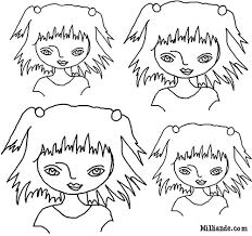 free printable paper dolls color art doll heads hop print