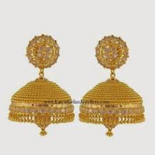 gold earrings for marriage kavya madhavan in designer jhumkas antique gold jewellery