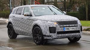 land rover small heavily disguised 2019 range rover evoque spotted