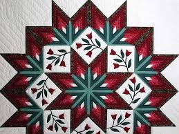 Tulip Wreath Eight Point Star Tulip Wreath Quilt Terrific Made With Care
