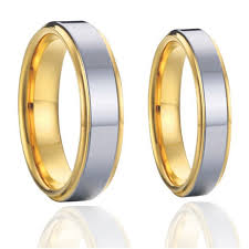 size 7 13 2015 new 18k plated classic gold men rings black 2015 classic titanium steel couples wedding bands rings sets 1 pair