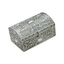 silver boxes with bows on top silver box