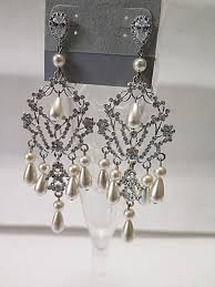 bridal chandelier earrings bridal chandelier earring mysite