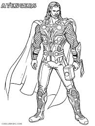 printable thor coloring pages kids cool2bkids comic book