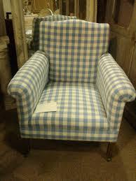 Check Armchair English Armchair In Blue U0026 White Check Gilli Hanna Decorative