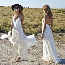 simple open back wedding dresses spaghetti straps summer simple 2017 v neck open back chiffon