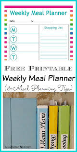 printable meal planning templates for healthy living
