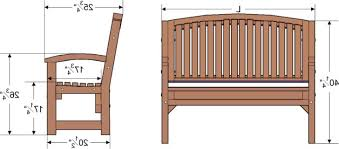 Swing Bench Plans Bench Seat Dimensions Militariart Com