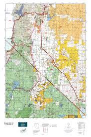 Nevada Map Nevada Gmu 192 Map Mytopo