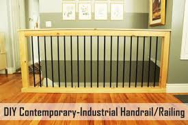 how to make a banister for stairs diy stair handrail with industrial pipes and wood