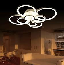 Hanging Dining Room Lights by New Led Ring Light Living Room Ceiling Bedroom Lamp Modern