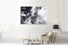 abstract hand painted black and white background acrylic painting