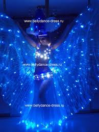 Light Up Stick Figure Halloween Costume Belly Dance Led Light Isis Wings Belly Dance Costumes Led Wings