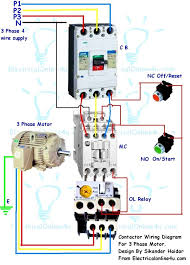 symbols 3 phase contactor 3 phase contactor with bimetallic