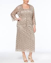r m richards plus size dresses r m richards plus size sleeveless sequined lace dress and jacket