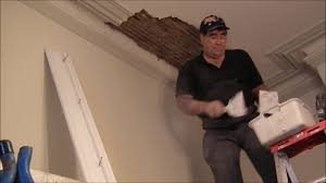 Cornice Repairs Victorian Cornice Repair Missing Section Installed Youtube