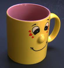 smiling funny face coffee mug type coffee mug condition used
