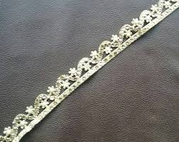 pink and gold with white gold beaded trim for sewing craft