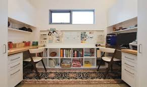 teenager study room with built in desks and cabinets good
