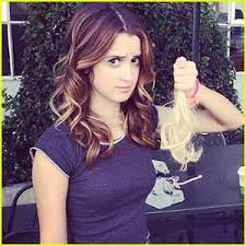 laura marano cuts leigh allyn baker s hair during bad hair day