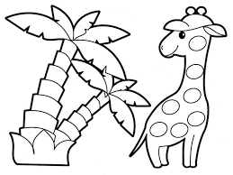 animal coloring page for kids printable free printable jungle