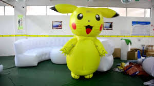 Pikachu Costume Cute Inflatable Pikachu Costume Youtube