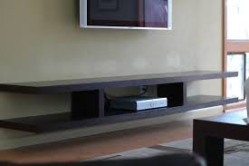 living room wall mounted tv stand with shelves within regarding