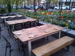 Outdoor Dining Patio Furniture by Nice Spring Flowers And Tulips Around An Outside Patio At A Unique