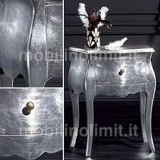comodini foglia argento 1 cassetto foglia argento