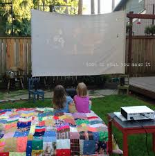 diy backyard home theater do it your self