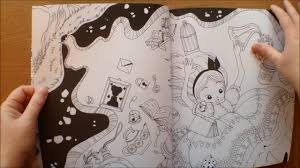 alice in wonderland colouring book with poster by fabiana