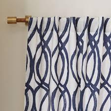Lattice Design Curtains Cotton Canvas Scribble Lattice Curtains Set Of 2 Midnight Blue
