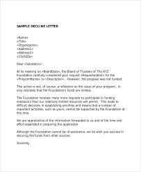 Regret Letter Unable To Join 6 grant rejection letters free sle exle format