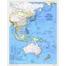 Asia Geography Map 1989 Asia Pacific Map National Geographic Store