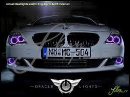 08 10 bmw 6 series led colorshift halo rings headlights bulbs