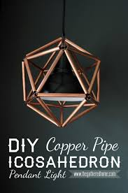 copper pipe light fixture diy copper pipe icosahedron light fixture pipes lights and craft